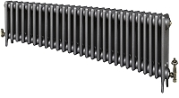 Eastgate Victoriana 3 Column 28 Section Cast Iron Radiator 450mm High x 1720mm Wide - Metallic Finish